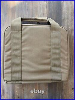Heckler Koch Pistol Case Brown Soft Special Op TACTICAL SOCOM HK Mark23 HK45 VP9