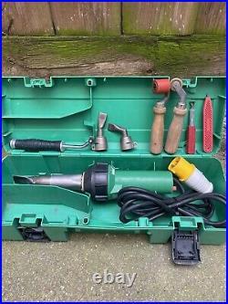 Leister Triac PID 110v Adjustable Hot Air Heat Gun Hand Welder in Carry Case