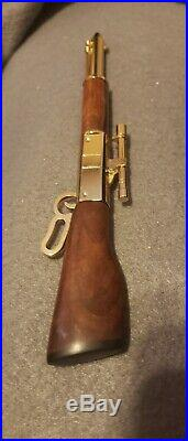 Lever action pen walnut burl stock hand made with hard gun case winchester 94