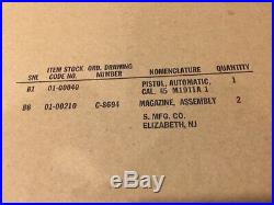 MIL SPEC USGI Kraft box for 1911A1 Singer PIstol WW2 WWII