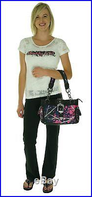 Muddy Girl Concealed Handgun Satchel Purse Womens Discreet Gun Carry Case Bag