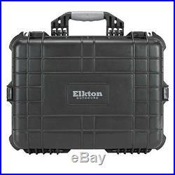 NEW Heavy Duty Elkton Customizable Outdoors 5 Handgun Hard Gun Case Pistol Case