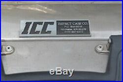 NEW ICC/IMPACT ALUMINUM RIFLE GUN Double Breakdown SHOTGUN Case PISTOL HUNTING