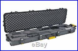 NEW Plano Double Scoped Pro Rifle Gun Hard Storage Case w Wheels FREE SHIPPING