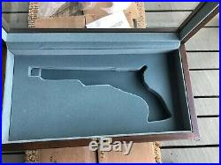 NIB Factory OEM COLT Paterson Glass Presentation Display Gun Case Reed & Barton