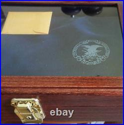 NRA National Rifle Association Glass Top Presentation GUN CASE New
