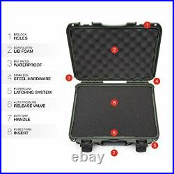 Nanuk 910 Professional Hand Gun/Pistol Case, Military (OliveWith Foam)