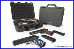 Nanuk 910 Waterproof TSA safe case DOUBLE Glock, 1911, SIG, Ruger, 2-UP