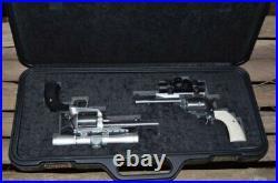 Negrini 3098R-TAC/5130 Handgun Deluxe Travel 2 Sided Case (2-6 Gun) Black/Black