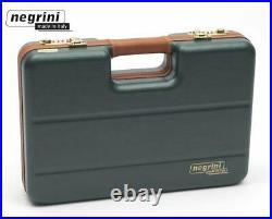 Negrini Cases 2023LX-TAC/4841 Handgun Deluxe Travel Case (1 Gun) Green/Brown