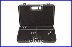 Negrini Cases 2023UR/4839 Handgun Deluxe Travel Case (1 Gun) Black/Black