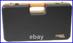 Negrini Cases 2027LX-TAC/4843 Handgun Deluxe Travel Case (2 Gun) Black/Red