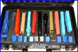 New 12 pistol handgun foam insert fits your Pelican 1525 Air case +nameplate