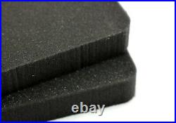 New 2pc Benchmark Solid High Density 2.2lb rifle foam fits your Pelican 1750