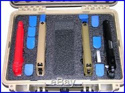 New Armourcase Waterproof 1450 Tan case + precut 4 pistol handgun foam case