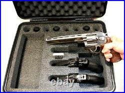 New Black ArmourCase 1550 case fits 4 very large Revolver Pistols free nameplate