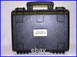 New Black Armourcase 1450 case includes precut 3 Revolver pistol handgun foam