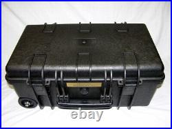 New Black Armourcase 1510 case includes Quickdraw 6 Pistol foam + nameplate