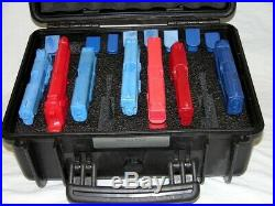 New Black Armourcase Waterproof 1450 case includes precut 9 pistol handgun foam