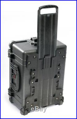 New Black Pelican 1650 Black case with 24 Pistol handgun foam + nameplate