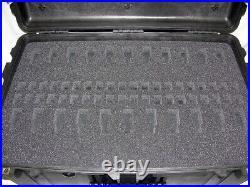 New Custom Precut 22 Pistol handgun foam fits your Pelican 1650 case + nameplate