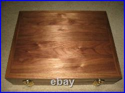 New Custom Wood Double Pistol Display Case For Colt 1911, Python, Saa, S&w