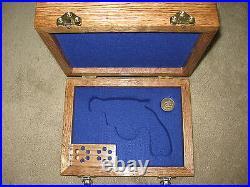 New Custom Wood Pistol Gun Case For Colt 1911, Python, Saa, Smith, Ruger