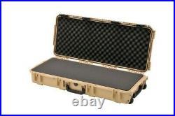 New Desert Tan Pelican 1750 Long Protector case includes foam + nameplate