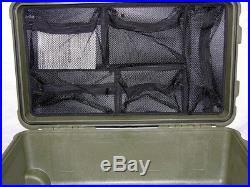 New Green Pelican 1510 case no foam includes nameplate + 1519 Lid Organizer