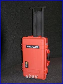 New Orange Pelican 1510 case with Special 6 pistol handgun foam +nameplate