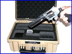 New TanArmou case 1450 case + precut 1 Revolver pistol handgun foam +nameplate