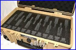 New Tan Armourcase Waterproof 1510 case includes precut 12 pistol handgun foam