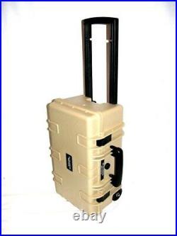 New Tan Armourcase Waterproof 1510 case with 6 pistol handgun foam case +1500D