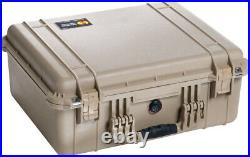 New Tan Pelican 1550 case includes precut 11 pistol handgun gun +22 mags foam