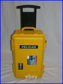 New Yellow Pelican 1510 case includes precut 6 handgun Range foam + nameplate