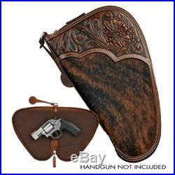 Nocona Brown Tooled Hair On Medium Gun Case N7600208
