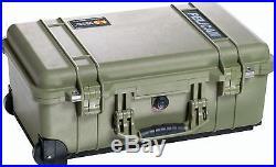 OD Green Pelican 1510 Custom 5 pistol / 5 Handgun Travel gun case