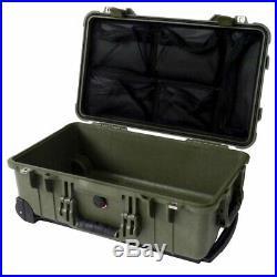 OD Green Pelican 1510 with 1519 Lid Organizer & TSA Lock. Case is empty