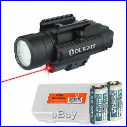 Olight Baldr RL 1120 Lumen Rail Light and Red Laser + LumenTac Battery Case