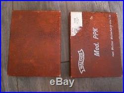 Original Walther PPK aligator Box. 32ACP aprox. 70` era case ser. 232932