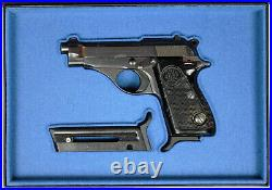 PISTOL GUN PRESENTATION CUSTOM DISPLAY CASE BOX for BERETTA m 71 JAGUAR. 22LR