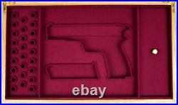 PISTOL GUN PRESENTATION CUSTOM DISPLAY CASE BOX for BROWNING HI POWER HP 2 type