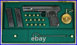PISTOL GUN PRESENTATION CUSTOM DISPLAY CASE BOX for BROWNING m1903 FN LIEGE 9mm