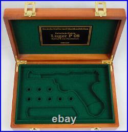 PISTOL GUN PRESENTATION CUSTOM DISPLAY CASE BOX for DWM LUGER P08 PARABELLUM