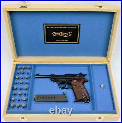 PISTOL GUN PRESENTATION CUSTOM DISPLAY CASE BOX for WALTHER P38 9 mm PARABELLUM