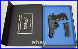 PISTOL GUN PRESENTATION CUSTOM DISPLAY CASE BOX for WALTHER PP mauser p38 ppk