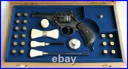 PISTOL GUN PRESENTATION CUSTOM DISPLAY CASE BOX for WEBLEY & SCOTT Mk V 4.455