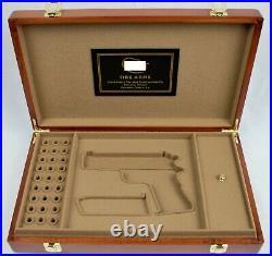 PISTOL GUN PRESENTATION CUSTOM DISPLAY CASE for COLT m1911A1 COMBAT COMANDER 9mm