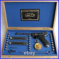 PISTOL PRESENTATION CUSTOM DISPLAY CASE BOX for LUGER P08 NAVY 6 inch PARABELLUM