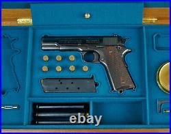 PISTOL PRESENTATION DISPLAY CUSTOM CASE BOX for COLT m1911 REMINGTON SPRINGFIELD
